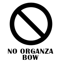 No Organza Bow