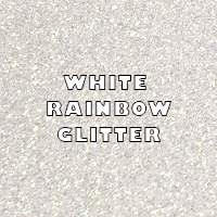 White Rainbow Glitter